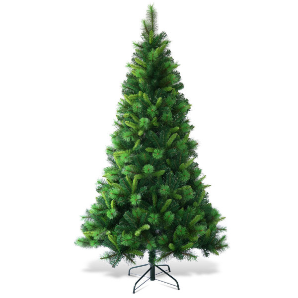 "7 Ft Pre-Lit Pvc Artificial Christmas Tree With Multicolor Lights-7"" CM21242"