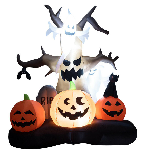 10' Inflatable Dead Tree With Ghost And Pumpkins CM22085