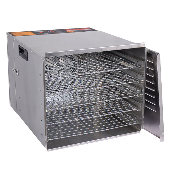10 Trays Stainless Steel Food Dehydrator Fruit Dryer EP22605