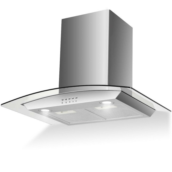 "30"" Stainless Steel Wall Mount Kitchen Range Hood With Led Lights EP23443"
