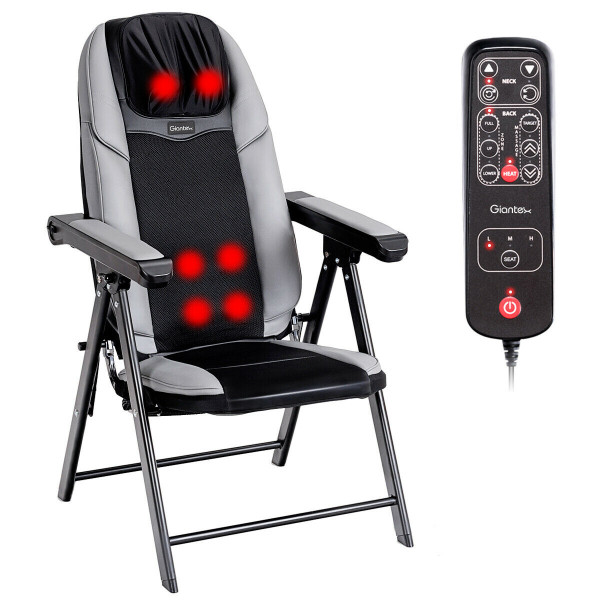 Adjustable Folding Shiatsu Massage Chair With Usb Port EP23785