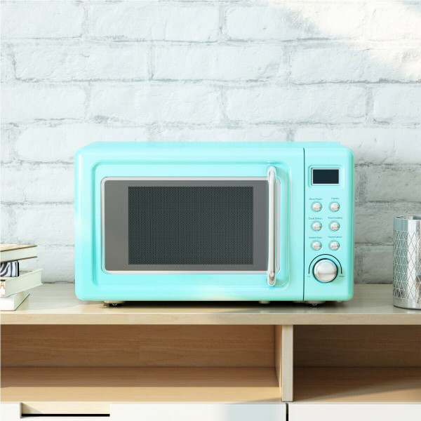 700W Glass Turntable Retro Countertop Microwave Oven-Green EP23853GN