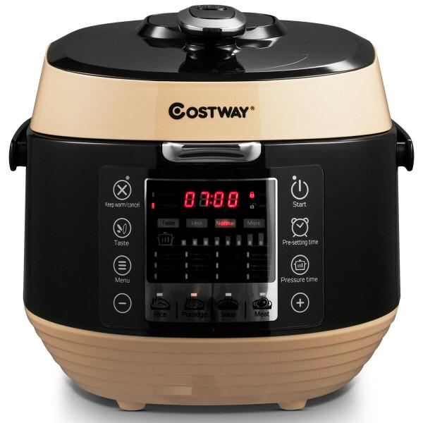 12-In-1 Multi-Use Programmable Electric Pressure Cooker Non-Stick Pot-Coffee EP23973BK