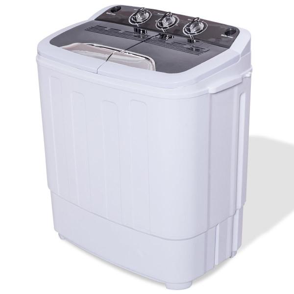 8 Lbs Compact Mini Twin Tub Washing Machine Washer Spiner EP24123
