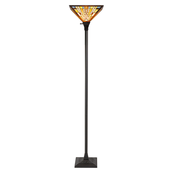 """1-Light Torchiere Floor Lamp With 14"""" Lampshade EP24162"""