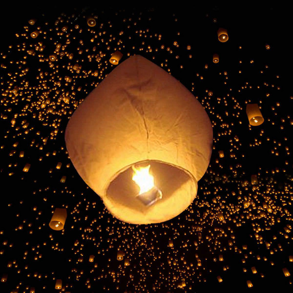 50 White Paper Chinese Lanterns GF28022WH - (Pack Of 2)