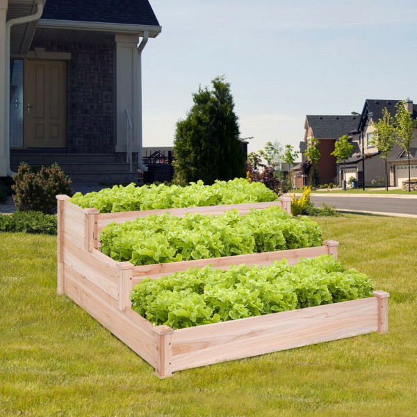 3 Tier Elevated Wooden Vegetable Garden Bed GT2937