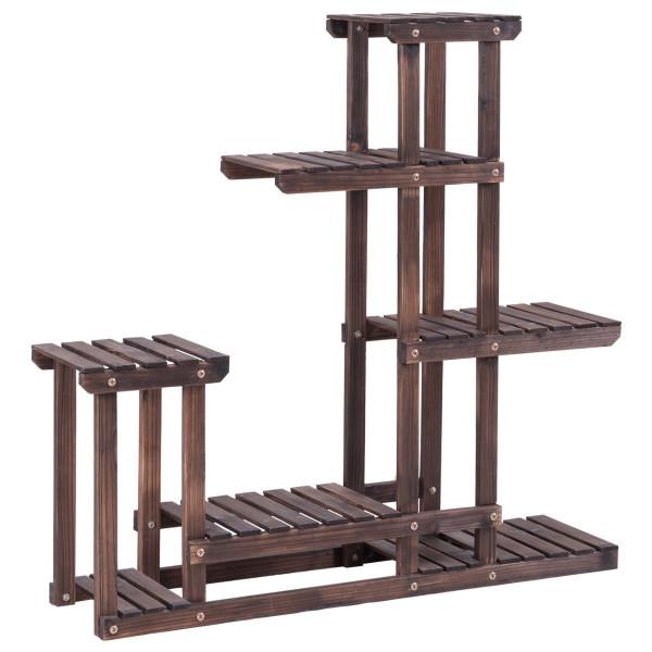 6 - Tier Wooden Plant Pot Stand Rack GT3210