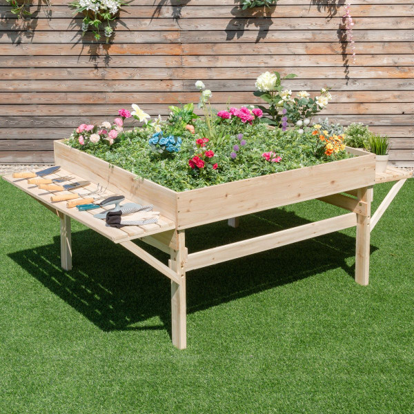 Garden Wood Raised Durable Planter Bed GT3276