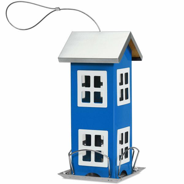 Outdoor Garden Yard Wild Bird Feeder Weatherproof House-Blue GT3423BL - (Pack Of 2)