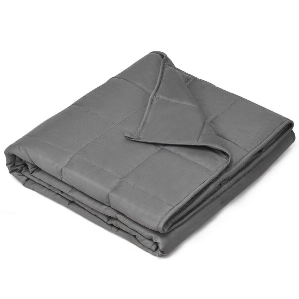 15 Lbs Weighted Blankets With Glass Beads Light-Dark Gray HT1010GR