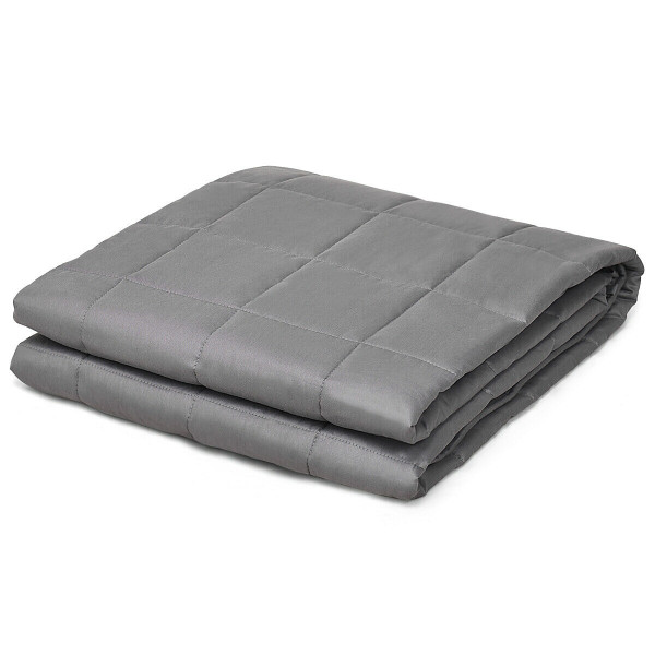 17 Lbs Weighted 100% Cotton Blankets-Gray HT1012GR