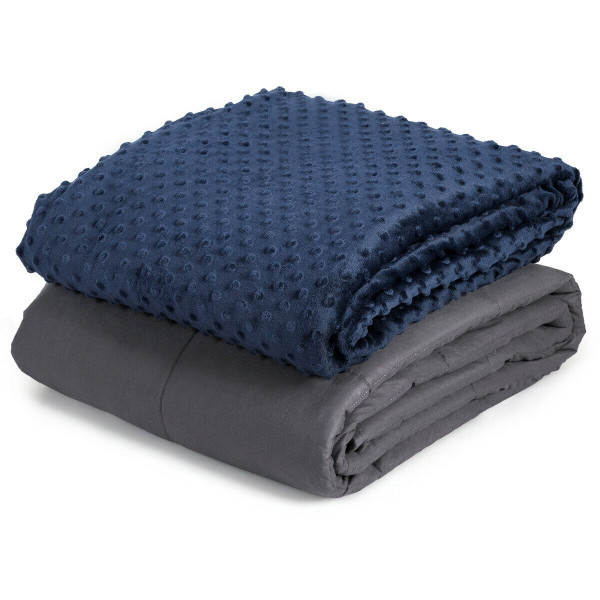 25Lbs Weighted Blanket With Removable Soft Crystal Cover HT1040