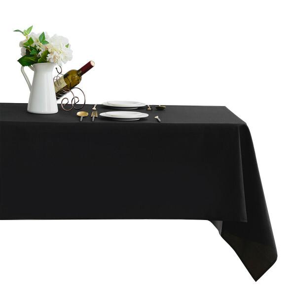 """10 Pcs 60"""" X 102"""" Rectangle Polyester Tablecloth-Black HT1051BK"""