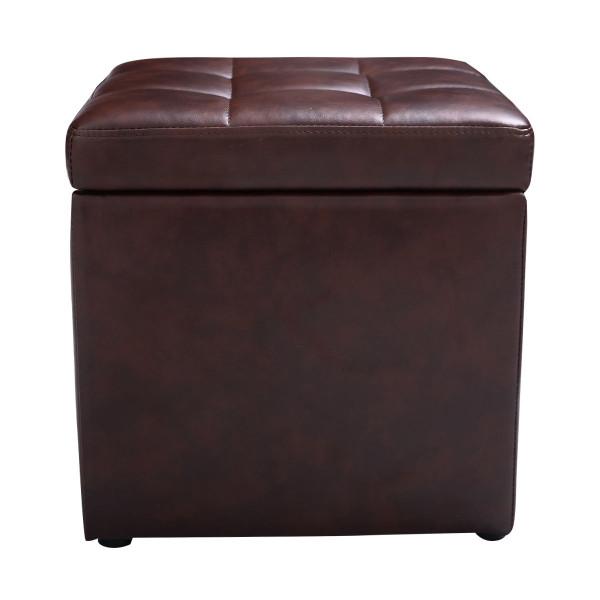 Ottoman Pouffe Storage Box Lounge Seat Footstools HW47908BN