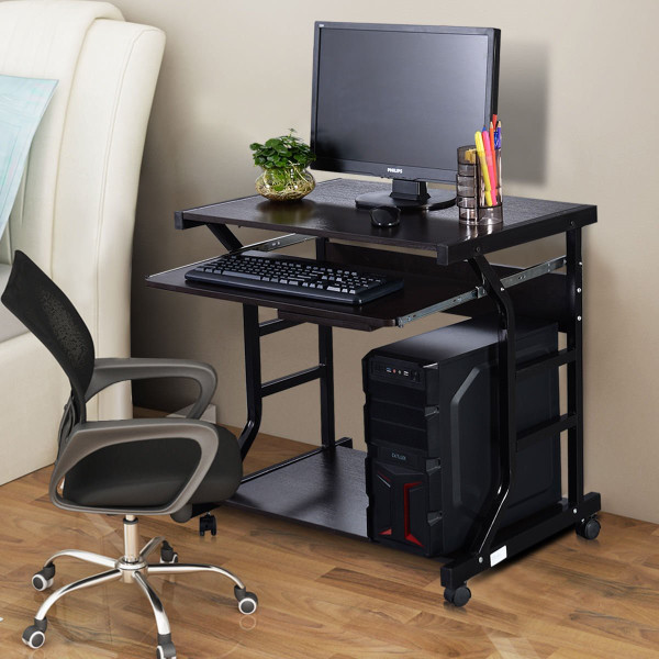 Home Office Workstation Rolling Computer Desk HW51071