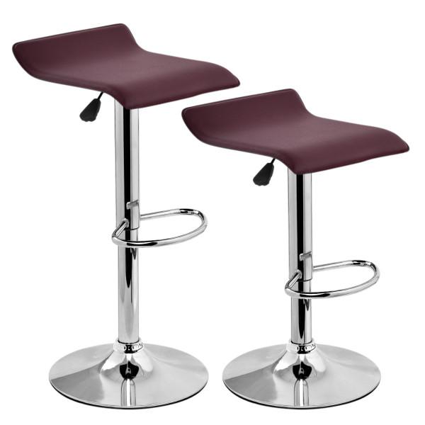 Set Of 2 Modern Bar Stools Dinning Counter Chairs-Brown HW52576BN