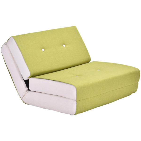 Convertible Fold Down Sleeper Bed Couch Dorm-Green HW52681GN