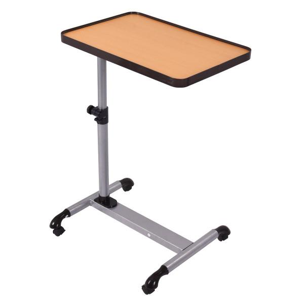 Rolling Adjustable Overbed Table Laptop Desk With Tilting Top HW52809