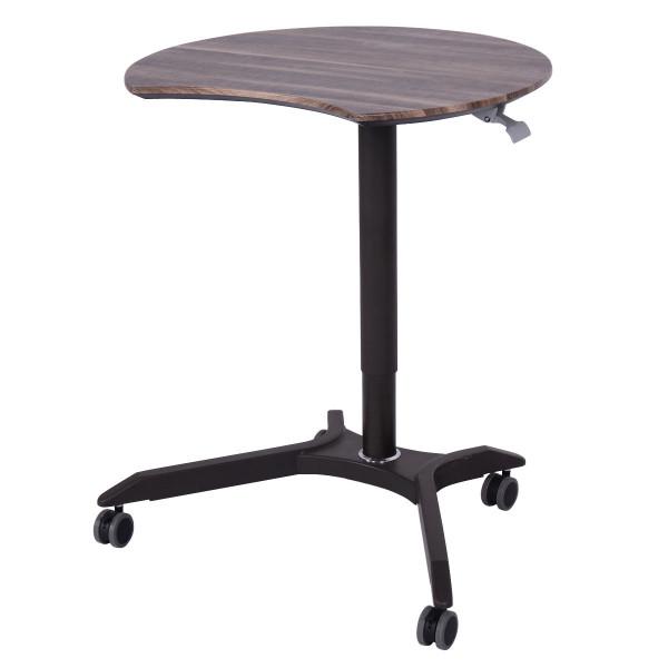 Rolling Laptop Computer Desk Height Adjustable Mobile Workstation Table HW54012