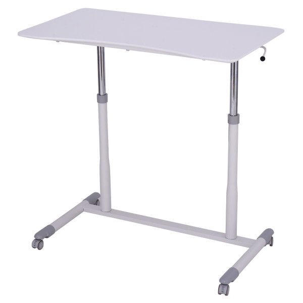Height Adjustable Computer Desk Sit To Stand Rolling Table HW54013