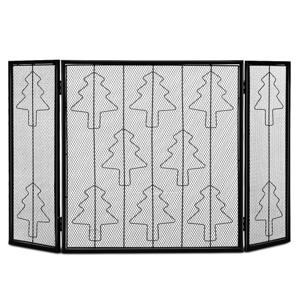 3 Panel Folding Steel Fireplace Screen HW54030