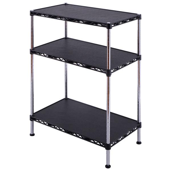 3-Tiers Adjustable Storage Rack Display Shelf HW54068 - (Pack Of 2)