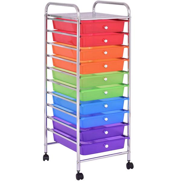 10 Drawers Rolling Storage Cart HW55238