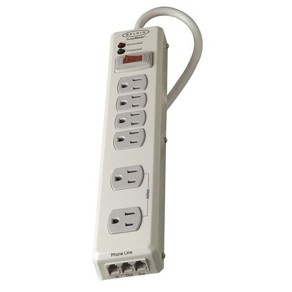 6-Outlet Metal Surge Protector By Belkin
