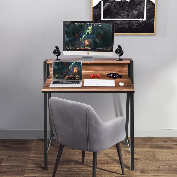 2 Tier Home Office Study Workstation Computer Desk HW55395