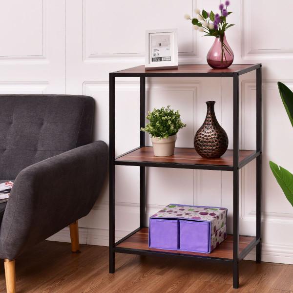 3-Tier Portable Metal Frame Storage Shelf HW55401