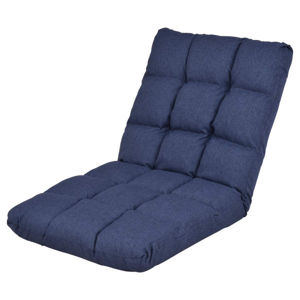14-Position Adjustable Cushioned Floor Gaming Sofa Chair-Blue HW56128BL