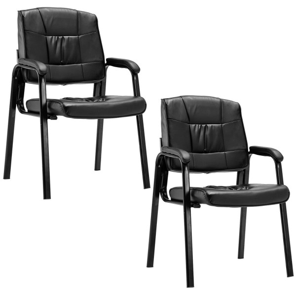 2 Pcs Pu Meeting Conference Arm Chair HW56259
