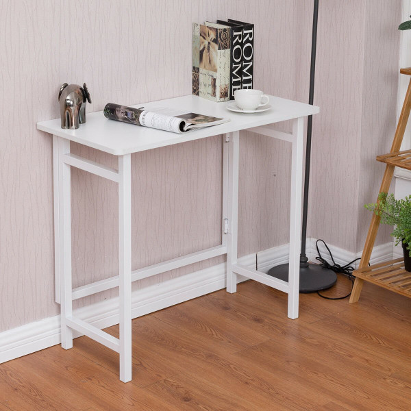 Home Office Folding Writing Computer Desk HW56263WH