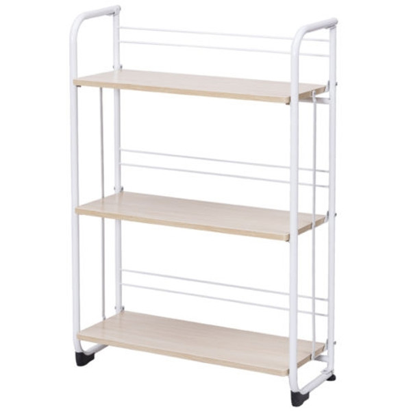 3-Tier Folding Shelves Storage Utility Standing Rack HW56265