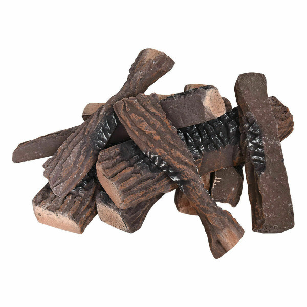 10 Pcs Ceramic Propane Fireplace Imitation Wood HW56384