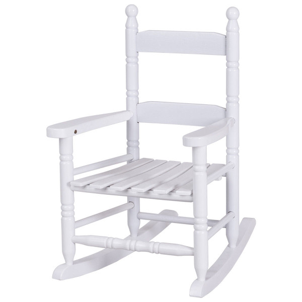 White Classic Wooden Children Rocking Chair HW56401