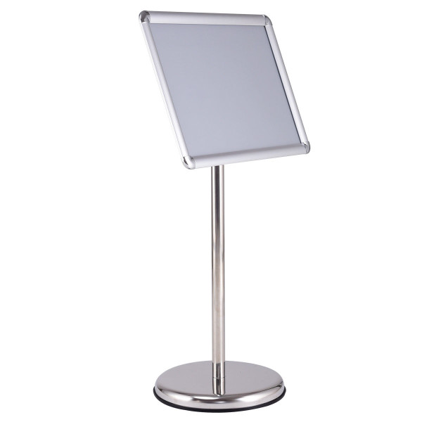 """13"""" X 18"""" Graphics Adjustable Aluminum Snap Pedestal Poster Stand-Silver HW56669SL - (Pack Of 2)"""
