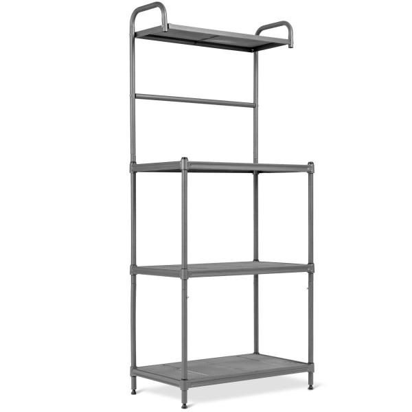 4-Tier Baker'S Rack Stand Shelves Kitchen Storage Rack Organizer HW57754GR
