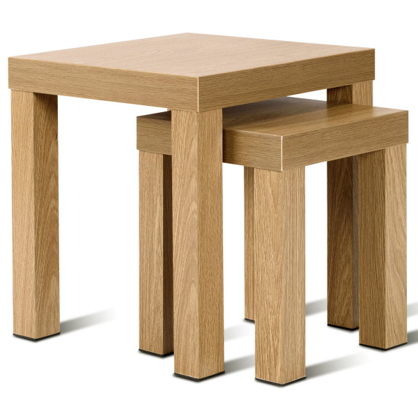 Set Of 2 Nesting Living Room Decor Wooden Coffee End Table HW58204 - (Pack Of 2)