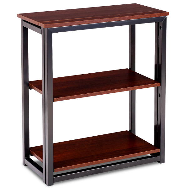 3 Tier Multifunctional Display Stand Folding Ladder Bookcase Shelf HW58801