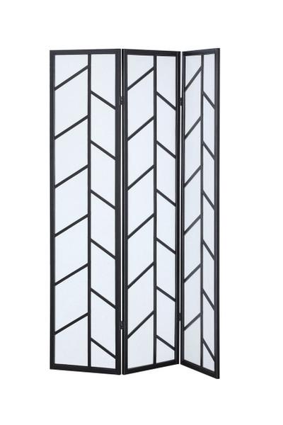 3 Panel Folding Shoji Room Divider Screen With Pine Wood Frame-B HW58838