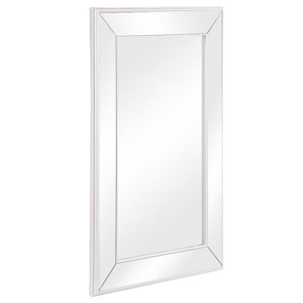 "20"" X 30.5"" Large Flat Framed Wall Mirror Mounted 3 Inch Edge Beveled Frame-36.5"" X 24"" X 1"" HW58851"