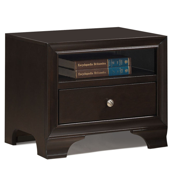 Nightstand Sofa Side Table End Table Storage Drawer -Brown HW58983BN