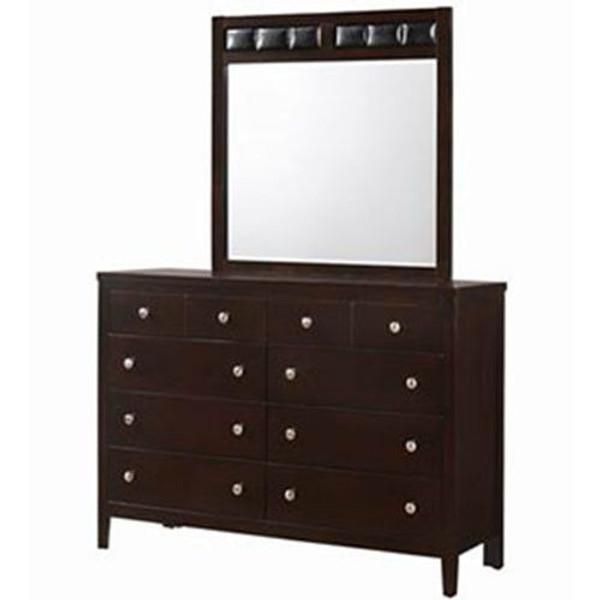 10 Drawers Luxury Dresser Mirror Storage Set HW59024+