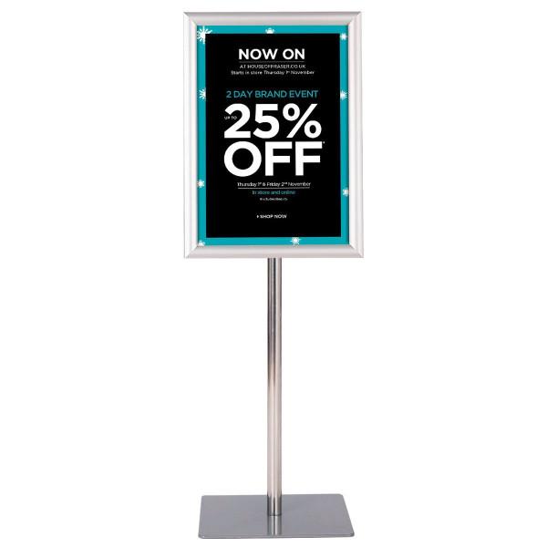 """11"""" X 17"""" Adjustable Aluminum Pedestal Poster Graphics Stand Holder-Silver HW59107SL"""