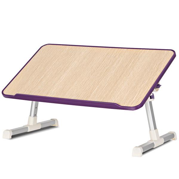 Portable Adjustable Desk Folding Lazy Laptop Computer Table-Purple HW59386PU - (Pack Of 2)