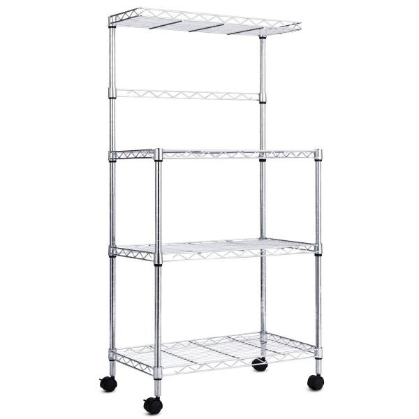 3-Tier Kitchen Microwave Baker Stand Storage Cart Rack HW59479