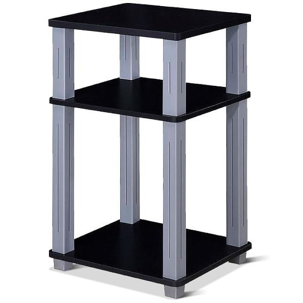 3 Tier End Table Multipurpose Shelf Night Stand Display Shelving-Black HW60172BK - (Pack Of 2)
