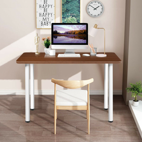 "47"" Multi-Use Laptop Table Modern Study Computer Desk-Brown HW61440CF"